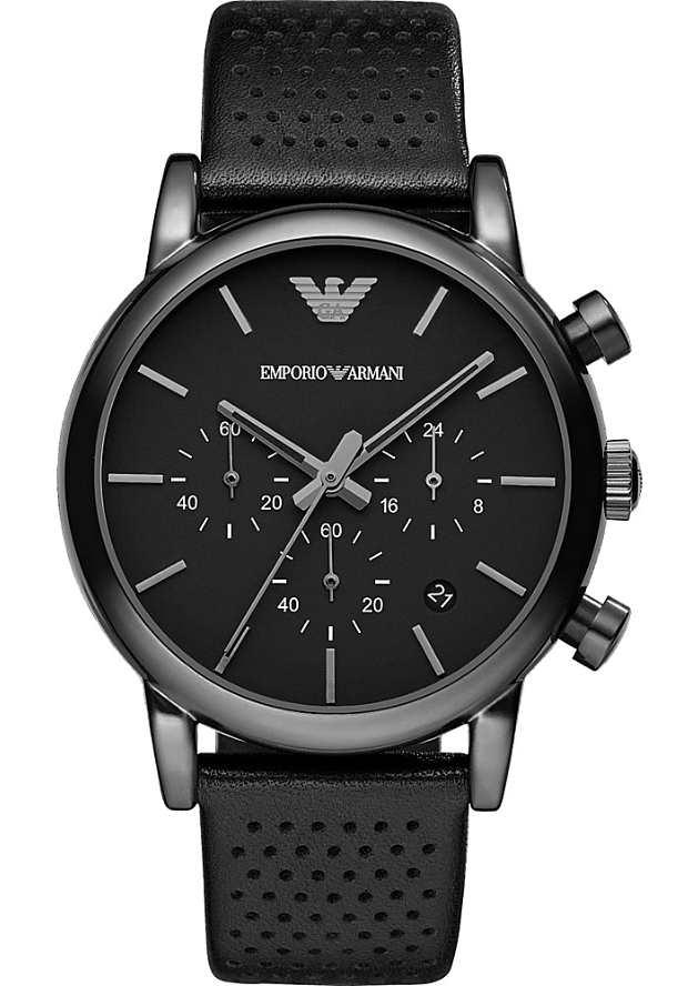 Часы Черные Мужские Emporio Armani AR1737 с хронографом