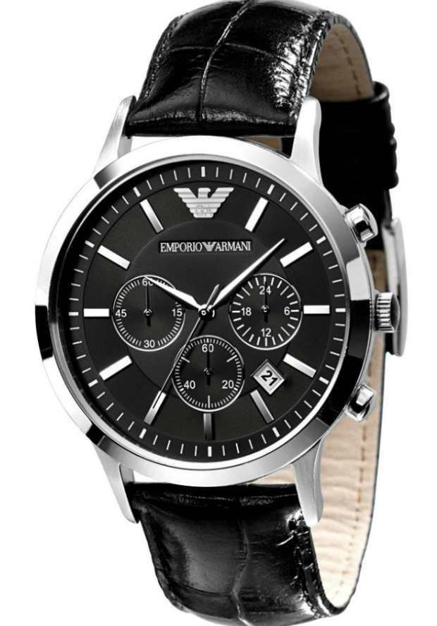Часы Emporio Armani Мужские AR2447 с черным циферблатом
