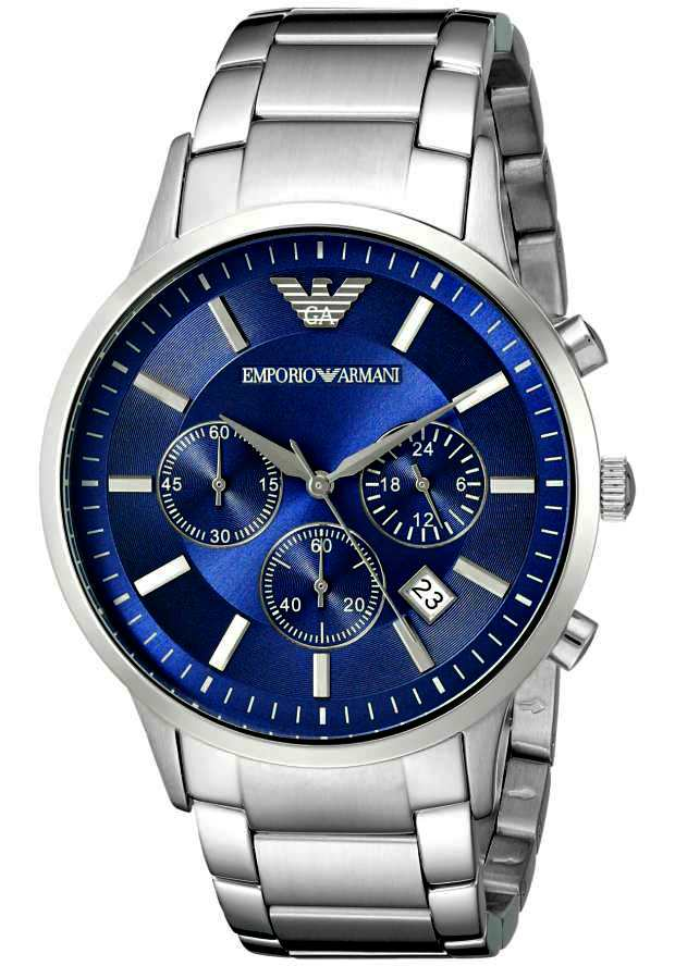 Emporio Armani Наручные Часы Мужские AR2448 с синим циферблатом