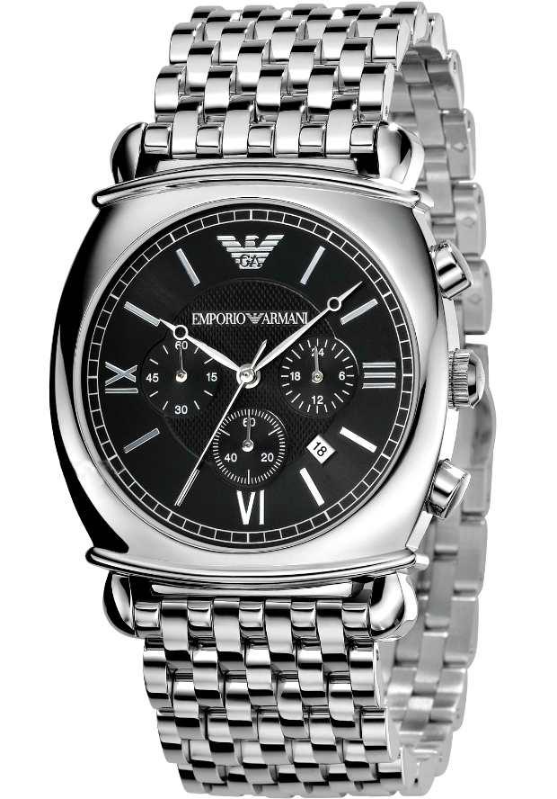 Классические Часы Мужские Emporio Armani AR0314 с черным циферблатом