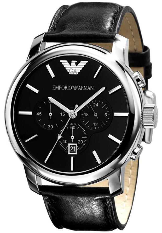Emporio Armani Мужские Наручные Часы AR0431 на кожаном ремешке