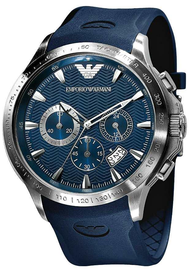 Синие Мужские Часы Армани Спортивные AR0649