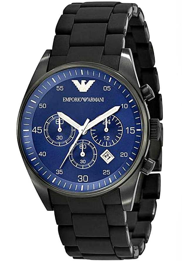 Armani Sportivo Мужские Наручные Часы AR5921 с синим циферблатом
