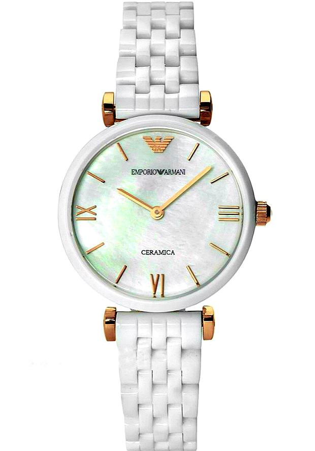Часы Женские Керамика Emporio Armani Белые AR1486