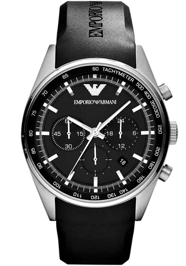 Часы Armani Мужские Каучуковые Черные AR5977