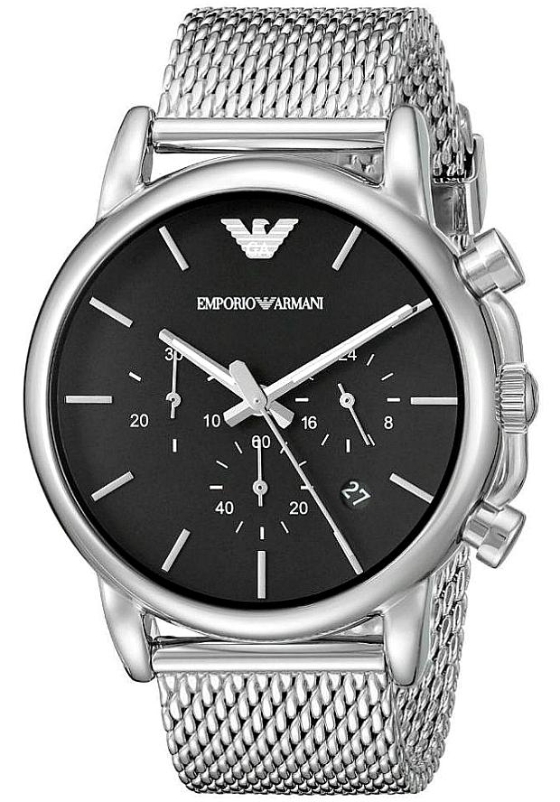 Часы Наручные Мужские Emporio Armani Серебристые AR1811