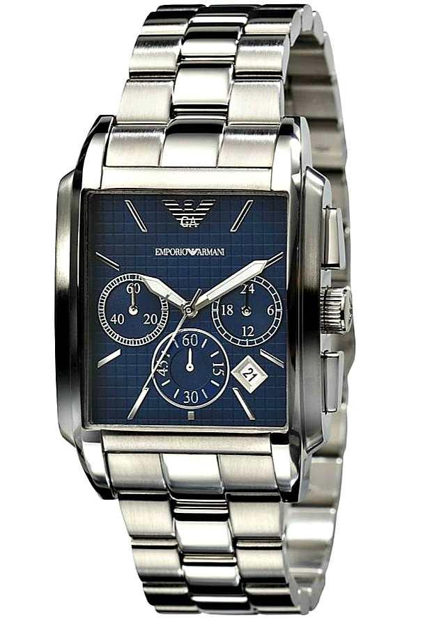 Часы Emporio Armani Мужские Кварцевые Хронограф AR0480