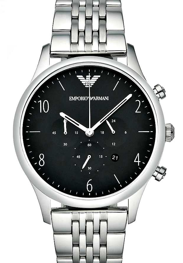Наручные Часы Мужские Emporio Armani AR1863 с черным циферблатом