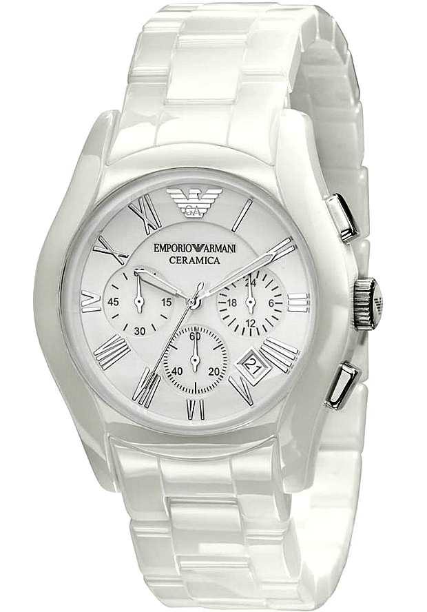 Белые Керамические Часы Emporio Armani Мужские AR1403