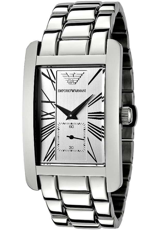 Часы Наручные Армани Прямоугольные Оригинал AR0145