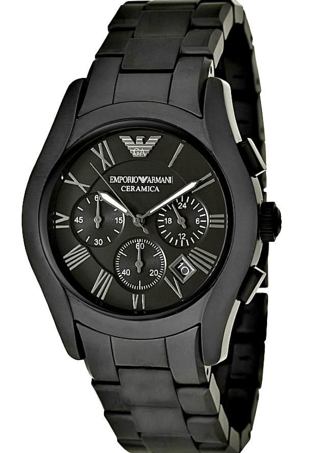 Часы Керамические Мужские Наручные Армани Черные AR1457