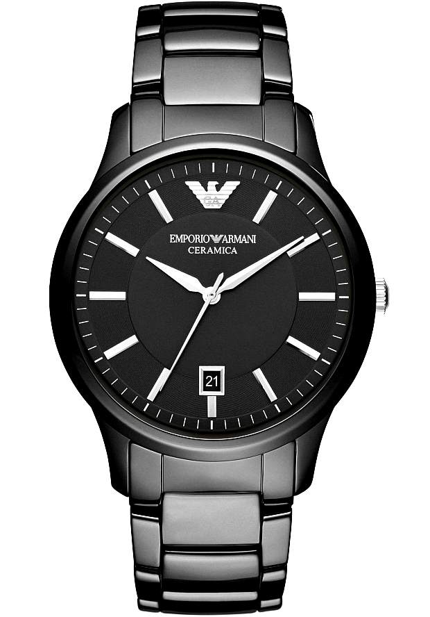 Керамические Часы Armani Мужские Черные Оригинал AR1475