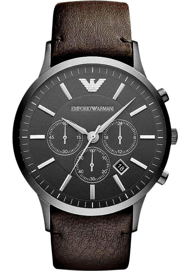 Часы Армани Мужские Хронограф AR2462 на кожаном ремне
