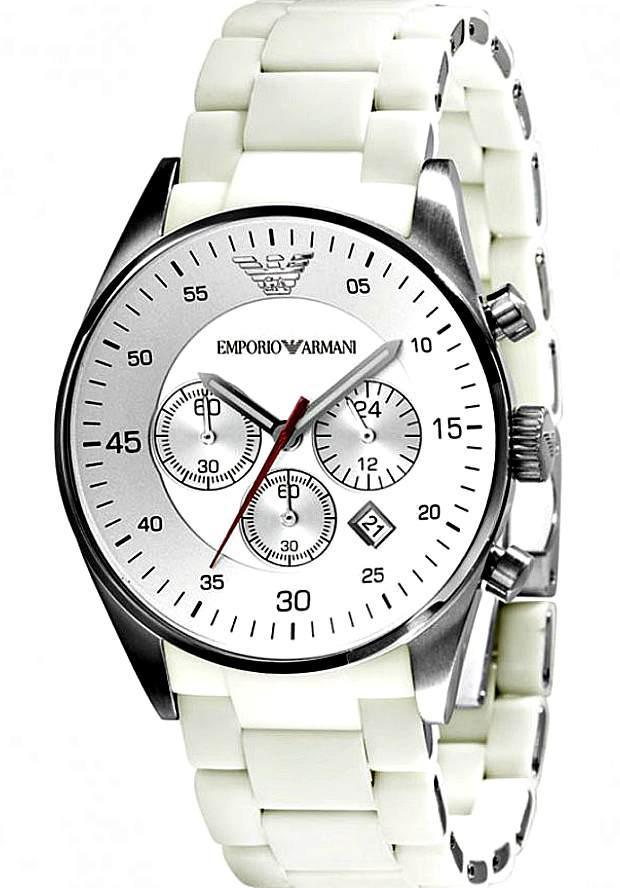 Мужские Часы Armani Белые Sportivo AR5859