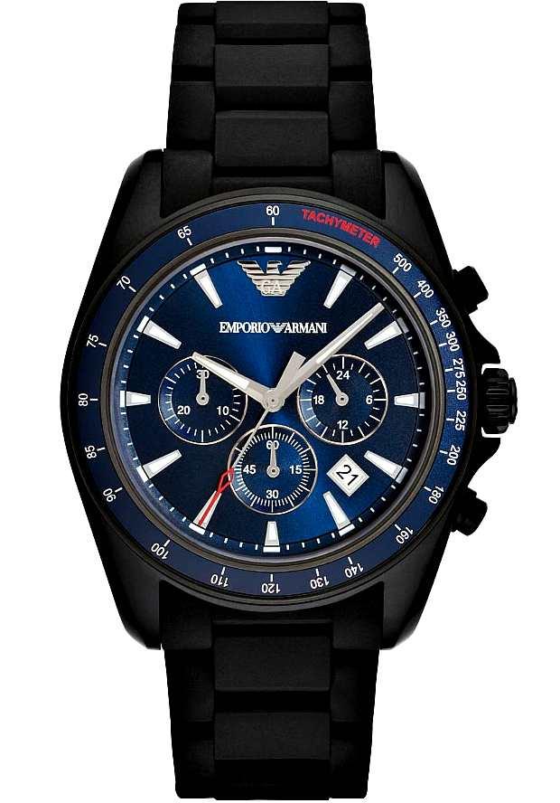 Часы Emporio Armani Мужские Черные Спортиво AR6121