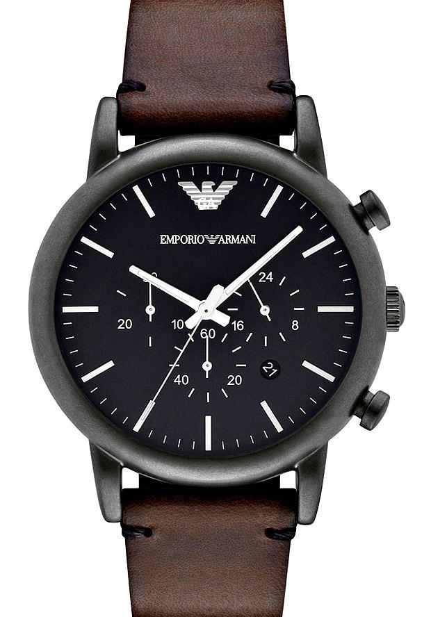 Часы Мужские Наручные Emporio Armani AR1919 на кожаном ремешке