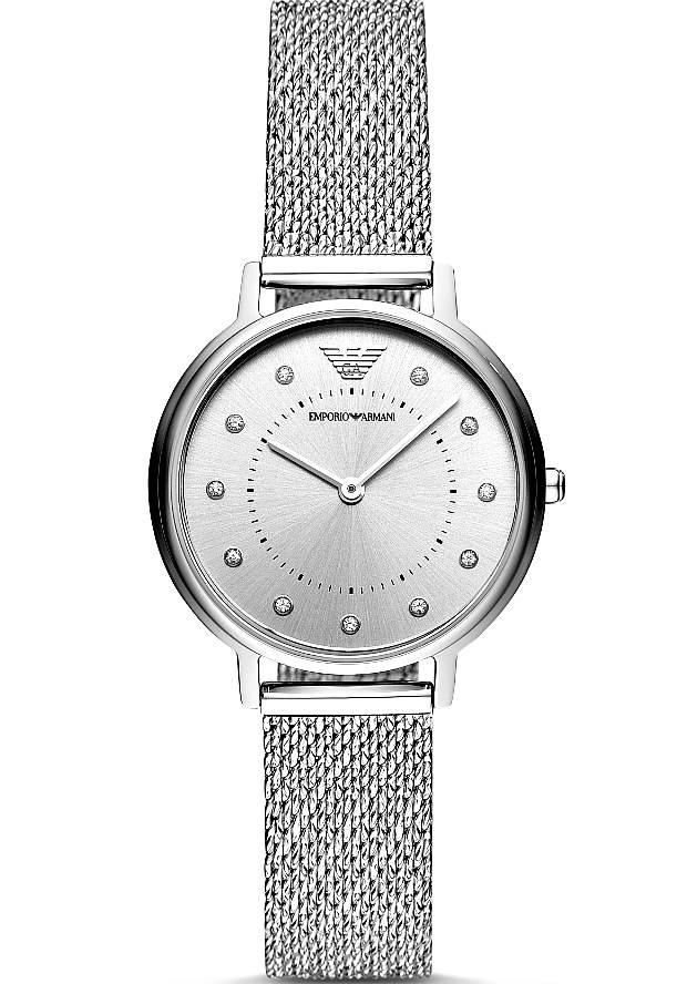 Женские Часы Emporio Armani Серебристые AR11128