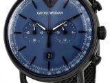 Часы Emporio Armani Мужские AR11201 Синий цтферблат